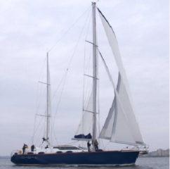 Яхта возле острова Змеиный