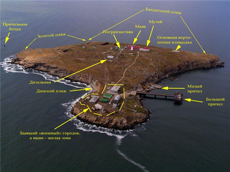 Инфраструктура острова Змеиный